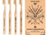 Bambuszahnbürste im 4er Set